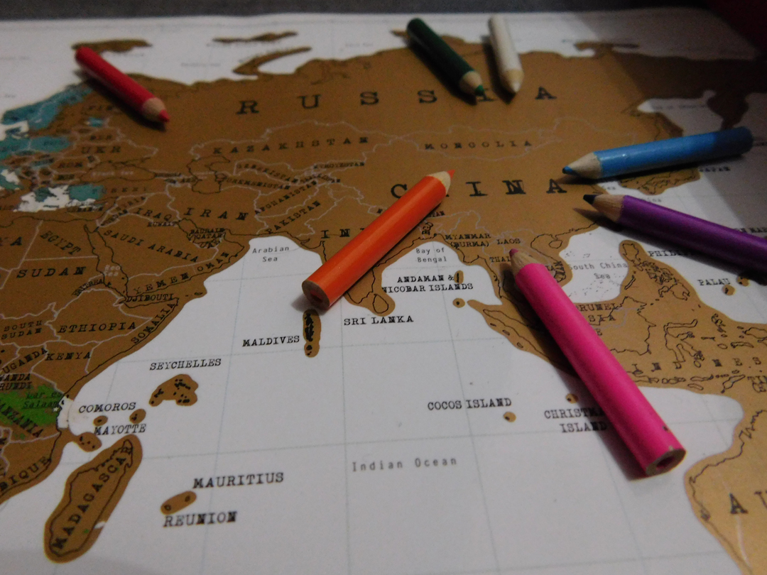 scratch map my shoes abroad