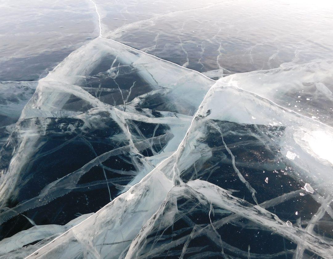 cracks on ice