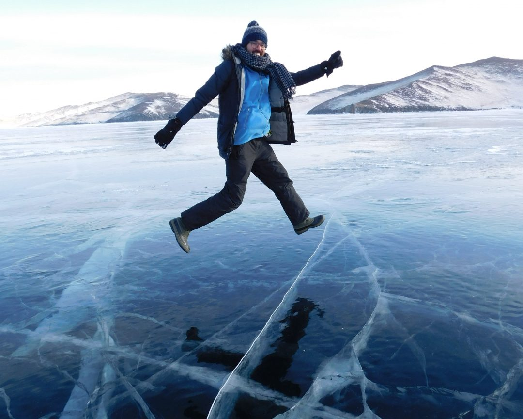 frozen lake baikal