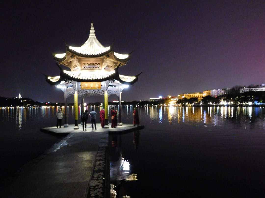 Hangzhou west lake by night