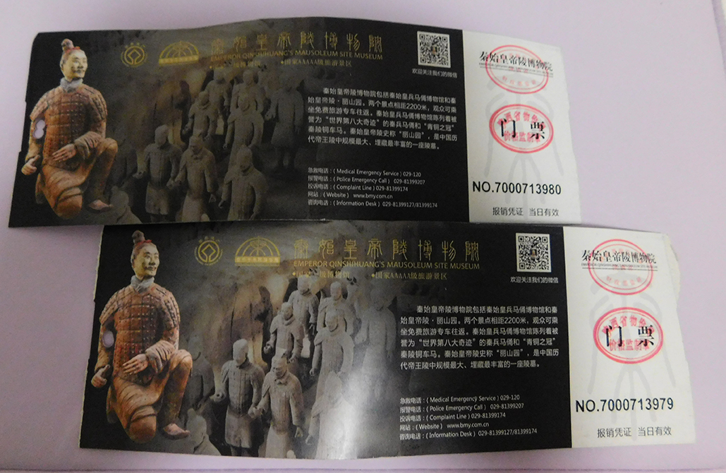 terracotta army tickets