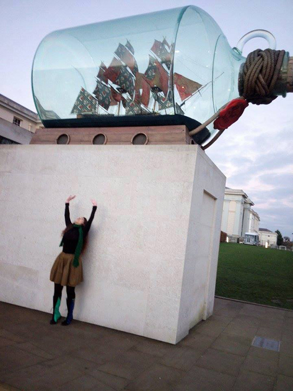 greenwich Nelson's Ship in a Bottle, by Yinka Shonibare