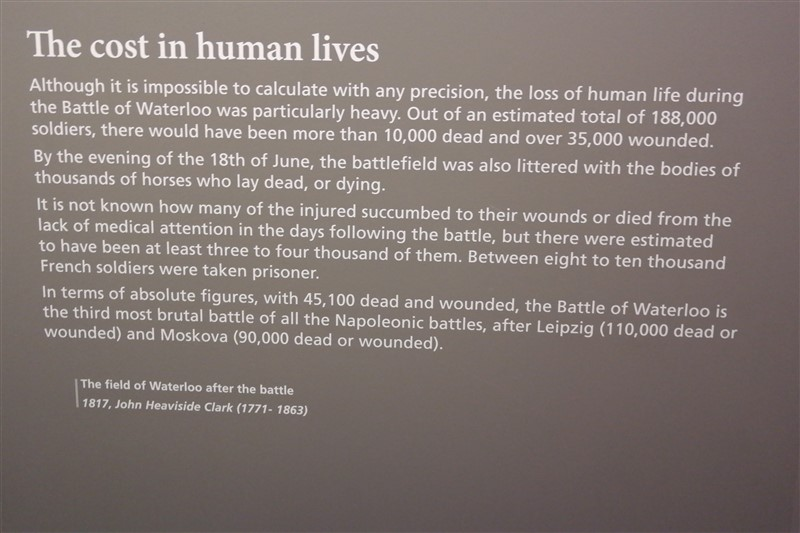 the cost of human lives waterloo battle